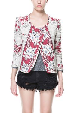 PRINTED QUILTED CARDIGAN  $99