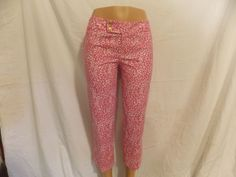 Lilly Pulitzer Palm Beach Cropped Pants Capri Pink Sz 6 - Beautiful - INV# 0196 #LillyPulitzer #CaprisCropped