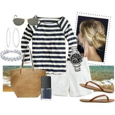 summer clothes...navy & white and all the great accessories