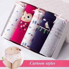 Jzh Sale Women Panties Stylish Cotton Underwear Cute Printed Intimate Plus Size Briefs - Products - Women's Briefs, Cotton Underwear, Summer Prints, Cute Socks, Character Modeling, Spandex Material, Cartoon Styles, Printed Cotton, Plus Size