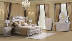 HD 13002 Homey Design Pearl White Finish Bedroom Set Victorian European And  Classic And Traditional Design