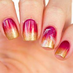 Fall Gradient Nails #fall #nails #fallnails #fallgradient