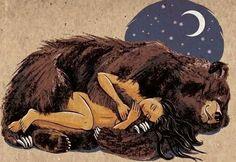 My animal spirit guide Spirit Bear, Spirit Animal, Illustrations, Art And Illustration, Arte Haida, Bear Totem, Animal Medicine, Love Bear, Bear Art