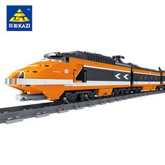 Model building kits compatible with lego city trains rail KTX 3D blocks Educational model building toys hobbies for children (32786638703)  SEE MORE  #SuperDeals