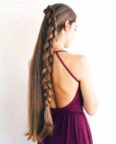 Elaborate braid hairstyles for long hair