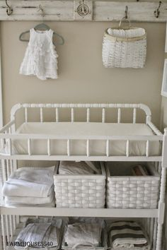 best ideas for baby nursery farmhouse changing tables Farmhouse Changing Tables, White Changing Table, Nursery Room, Girl Nursery, Baby Room, Nursery Ideas, Room Ideas, Vintage Nursery Girl, Nursery Decor