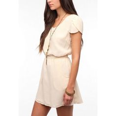 Urban Outfitters Slit Back Cap Sleeve Dress Euc