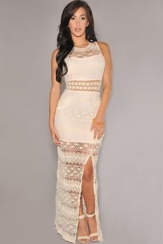 Vestido Longo em Renda Marcie- Ref.335 - DMS Boutique