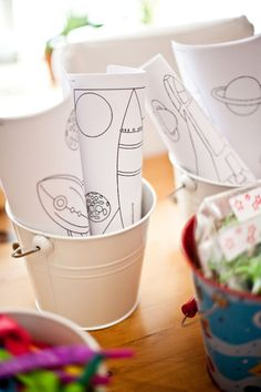 Space coloring buckets for table