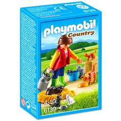 Cosy up with the Playmobil Woman with Cat Family Help the girl fill the food bowl for the cats and three kittens before they curl up for an afternoon nap Set includes one figure three cast three kittens and other accessories Play Mobile, Farm Women, Country Women, Country Farm, Paw Patrol, Playmobil Country, Playmobil Sets, Son Chat, Deep Sea Fishing