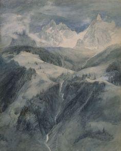 John Ruskin, Cascade de la Folie, Chamonix, 1849
