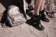 Boots Balenciaga // Chanel Bagpack