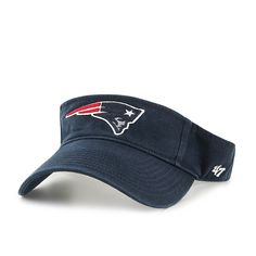 low priced 8df8f afc48 New England Patriots Clean Up Visor Navy 47 Brand Adjustable Hat