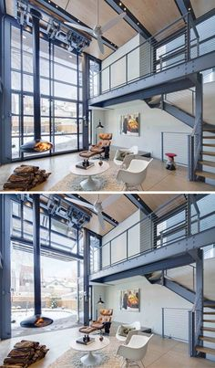We're Obsessed With These Industrial Aviation-Inspired Homes