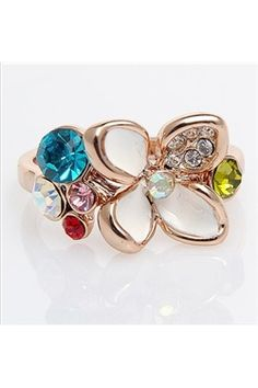 Charming Daisy Colorful Lady's Ring
