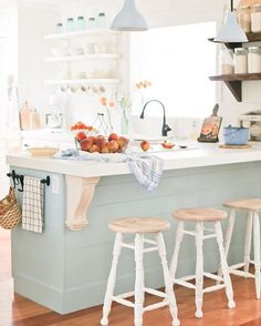 Happy Friday #BrightWhiteWednesday friends! What better way to celebrate Fall than this gorgeous peach inspired cottage kitchen from @camitidbits ! Every single spot is loaded with charm and beauty! Cami, we just loved all the natural light flooding in your bright, white space and we are not so secretly hoping for an invite for some coffee and peach cobbler ! @sheleavesalittlesparkle @designsbyceres @mrsparanjape @lifeontheshadygrove @thelesliestyle @oliveandford
