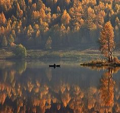 #water #canoe #autumn
