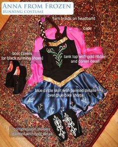 Princess Anna running costume