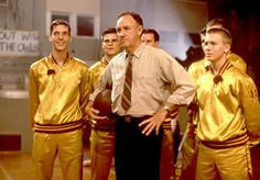 """Gene Hackman, probably my favorite actor of our era, in a great film """"Hoosiers.""""  I have watched it at least 5 to 10 times and it never ceases to entertain and build excitement!"""