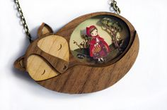 We Create Fairy-Tale Inspired Necklaces With Tiny Scenes Inside  The Little Red Riding Hood Necklace