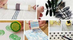 10 ideas diy para estampar tus tejidos