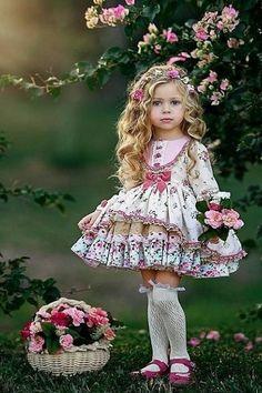 So Cute Baby, Cute Babies, Cute Little Girls Outfits, Little Girl Dresses, Kids Outfits, Flower Girl Dresses, Kids Dress Wear, Baby Dress, 1st Birthday Girl Dress