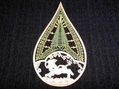Deko-Objekte - KCA 35 - Klöppelbild - Blätterreigen - ein Designerstück von Kreative-Kloeppelideen bei DaWanda