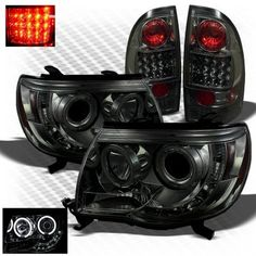2011 Toyota Tacoma Smoked CCFL Halo Headlights and LED Tail Lights