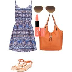 Untitled #440 by aagyekumwaa on Polyvore featuring New Look, Black Rivet, Ray-Ban and NYX