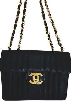 Chanel Vintage Quilted Caviar Jumbo Shoulder Bag
