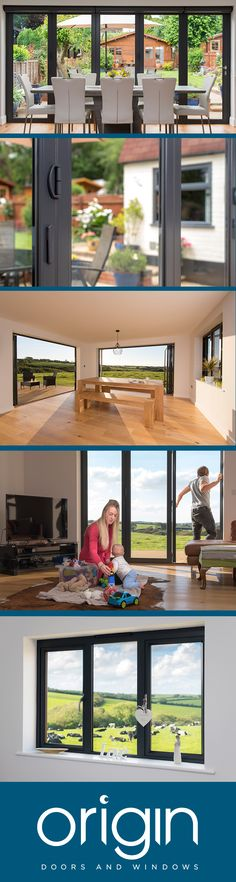 Origin Aluminium Doors and Windows will transform your home. For more informatio… Origin Aluminium Doors and Windows will transform your home. For more information please visit www. Bedroom House Plans, House Rooms, Internal Doors Modern, Rear Extension, Modern Windows, Aluminium Doors, Patio Doors, Patio Windows, Folding Doors
