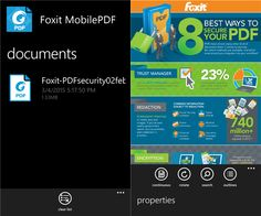 'Foxit Mobile PDF' launches as an universal app on Windows Phone