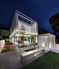 Designed as a series of interconnected voids, this house in Singapore by local firm Park+Associates Architects won a 2016 Architizer A+Award.