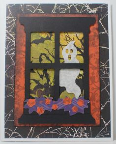 "Simply Elegant Paper Crafts blog; Cricut ""Creative Cards"" cartridge; BasicGrey ""Eerie"" papers and Recollections ""Ravenhood Manor"" collection"