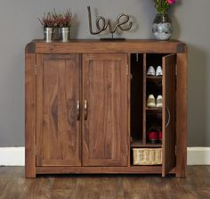 Sayan Wooden Shoe Cupboard In Walnut With 1 Door 32140 Shoestorage Furnitureinfashion Storage Furnituredesign