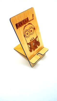 For childrens Wood Phone Stand - iPhone or Android - for Travel