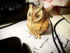 Cute owl papercraft from #canoncreativepark <3 I've been using their site for so long, they have the best templates around! Printed with #brotherprinter tho lol #owl #papercraft #paper #diy #cute