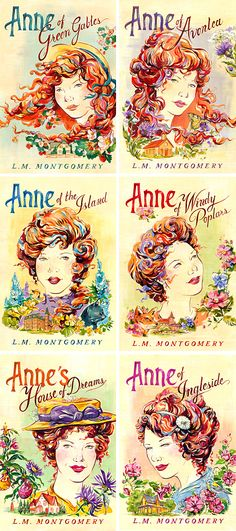 Anne of Green Gables (Sourcebooks) - Book Cover Art by Jacqui Oakley Illustration.