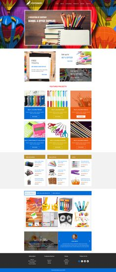 Sell365's Stationary Template. One of the best Website Builder in India. Design and customize your own website with our free website templates.
