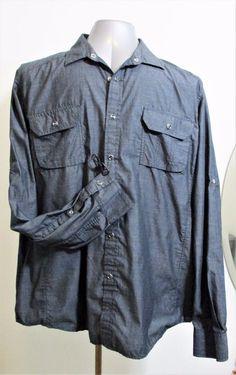 American Rag Big Men's Long Sleeve Button Down Casual Shirt Size XXL 2XL #AmericanRagCie #ButtonFront