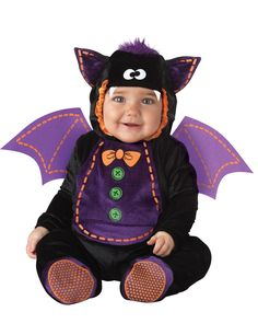 Check out Baby Bat Costume - Wholesale Animal Costumes for Infants & Toddlers from Wholesale Halloween Costumes Halloween Noir, Cute Baby Halloween Costumes, Halloween Bats, Halloween Fancy Dress, Infant Halloween, Halloween Outfits, Devil Halloween, Holiday Costumes, Halloween 2013