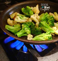 Creamy Garlic Broccoli (Only 2 Ingredients!) - Raining Hot Coupons- fixed tonight...don't even add the lemon juice