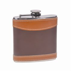@ShopAndThinkBig.com - This genuine leather wrapped 6oz stainless steel hip flask is a great buy. The sturdy design and high quality leather wrap combine to make this a high quality buy at a super low price. This genuine leather wrapped drinking flask sports a beautiful 2-tone design that screams Classy. The 2 color wrap on this flask is genuine leather, not artificial, fake or faux..WE USE 10… http://www.shopandthinkbig.com/6oz-leather-wrapped-hip-flask-top-shelf-flasks-p-429.html
