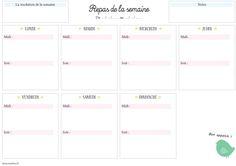 Mon carnet de listes #2 : organiser ses menus et un joli planning repas à imprimer | Etre créative
