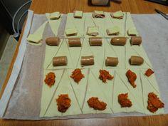 Mini croissants de hojaldre rellenos | Mi Rincón de Recetas Cooking Time, Cooking Recipes, Mini Croissants, Xmas Dinner, Appetisers, Party Snacks, Biscuits, No Bake Cake, Food Inspiration