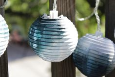 How-To Dip Dye Lanterns + GIVEAWAY! from @Heidi from Hands Occupied and @catching fireflies
