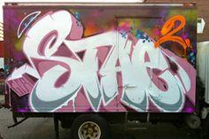 Stae 2 – read more @ http://www.juxtapoz.com/Graffiti/stae-23124124 – #graffiti #stae2 #truck