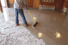 Self-leveling toppings are designed to be used over existing concrete substrates that are rough, uneven or unattractive. Here Westcoat's Level-It was used on a floor at the Gamma Alpha Phi sorority house at San Diego State University.