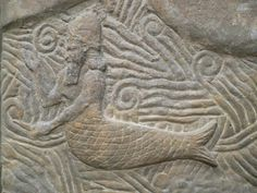Sumerian carving of a merman, Louvre.