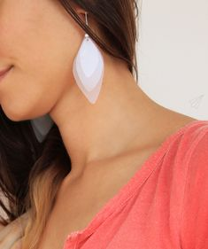 How to make: Upcycled leaf earrings